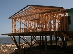 beach home under construction